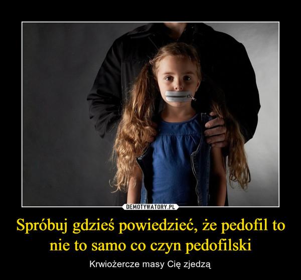 Spróbuj gdzieś powiedzieć, że pedofil to nie to samo co czyn pedofilski – Krwiożercze masy Cię zjedzą