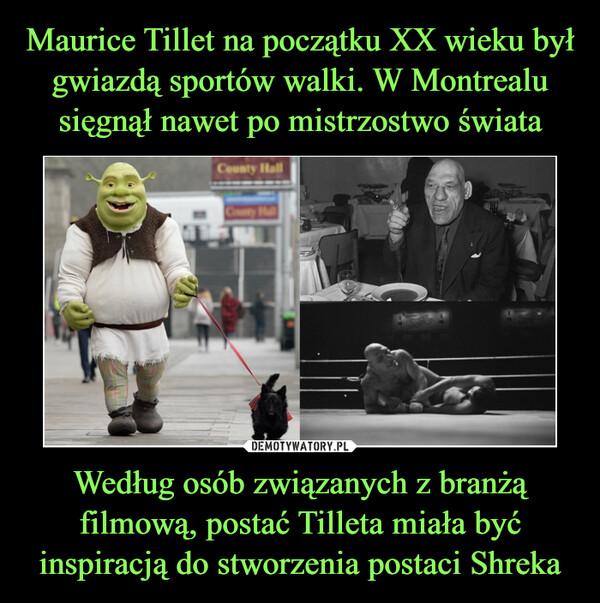 Według osób związanych z branżą filmową, postać Tilleta miała być inspiracją do stworzenia postaci Shreka –