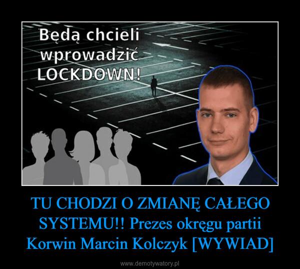 TU CHODZI O ZMIANĘ CAŁEGO SYSTEMU!! Prezes okręgu partii Korwin Marcin Kolczyk [WYWIAD] –
