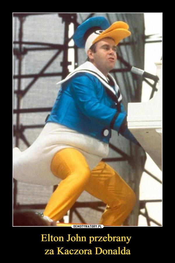 Elton John przebrany za Kaczora Donalda –