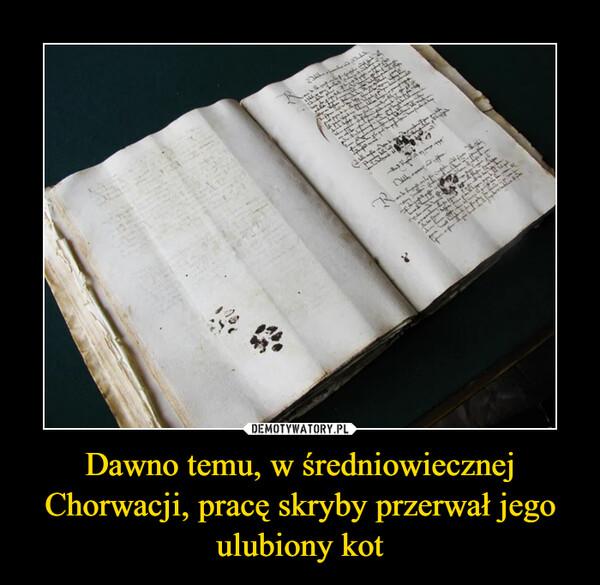 Dawno temu, w średniowiecznej Chorwacji, pracę skryby przerwał jego ulubiony kot –
